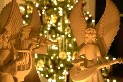 天使圣诞节 库存照片