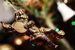 天使圣诞节deorations 免版税库存照片