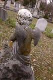 天使墓碑细节 免版税库存照片