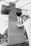 天使墓碑细节 免版税库存图片
