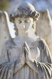 天使墓碑 库存图片