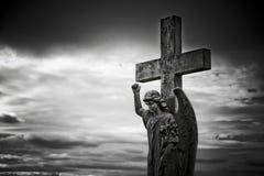 天使墓碑 免版税图库摄影