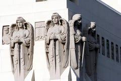 天使大厦雕象 免版税图库摄影