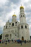 天使大教堂和伊冯伟大的响铃在克里姆林宫 莫斯科 俄国 免版税库存图片