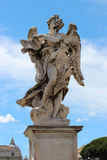 天使大理石象从Sant'Angelo桥梁的 库存照片