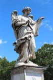 天使大理石象从Sant'Angelo桥梁的 库存图片