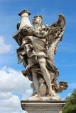 天使大理石象从Sant'Angelo桥梁的 图库摄影