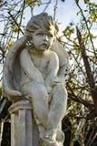 天使天使雕象 免版税库存照片