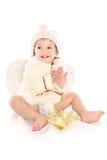 天使女婴一点 库存图片