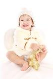 天使女婴一点 免版税库存图片