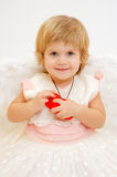 天使女孩一点 库存照片