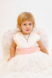 天使女孩一点 免版税库存图片