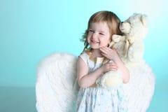 天使女孩小的翼 免版税图库摄影