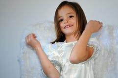 天使女孩 免版税库存照片