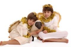 天使姐妹 库存图片