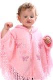 天使婴孩喜欢看起来可爱的桃红色雨&# 库存图片