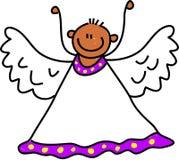 天使孩子 免版税库存照片