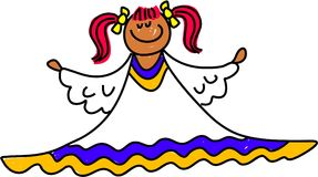 天使孩子 向量例证
