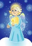 天使对光检查圣诞节现有量 图库摄影
