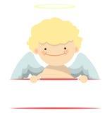 天使小男孩横幅 库存照片