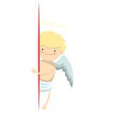 天使小男孩横幅 免版税库存图片