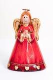 天使小雕象祈祷的微笑 免版税库存图片