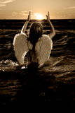 天使少许照片 库存图片