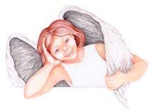 天使年轻人 库存图片