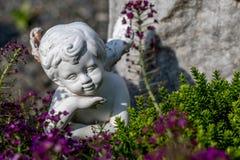 天使开会和作梦 免版税库存照片