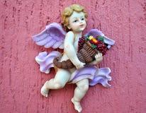 天使形象在墨西哥公墓 图库摄影