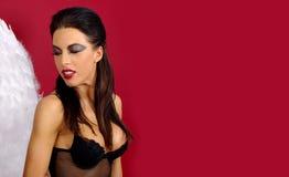 天使恶魔妇女 免版税库存图片