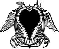 天使恶魔 免版税图库摄影