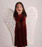 天使惊奇了 库存图片