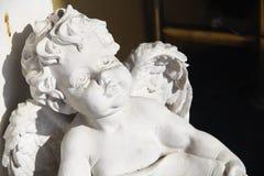 天使新出生婴孩的光 库存图片