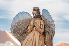 天使服装的妇女 库存照片