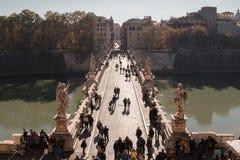 天使桥梁罗马Ponte Sant'Angelo 库存照片