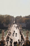 天使桥梁罗马Ponte Sant'Angelo 库存图片