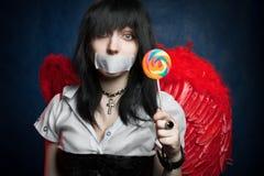 天使棒棒糖 免版税图库摄影