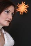 天使水晶星形 免版税库存图片