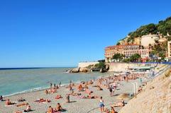 天使海湾,尼斯(法国) 免版税库存照片