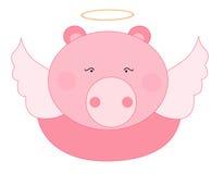 天使猪 图库摄影