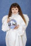 天使球儿童玻璃藏品翼 库存图片