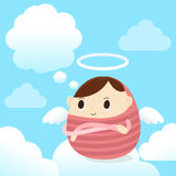 天使男孩 免版税库存图片