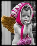 从天使的亲吻 库存照片