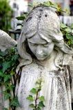 天使的公墓雕象 免版税库存照片