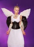 天使的图象的年轻美丽的女孩 免版税库存图片
