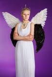 天使的图象的年轻美丽的女孩 图库摄影