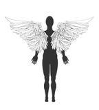 天使的图 也corel凹道例证向量 图库摄影