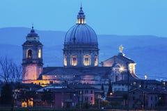 天使的圣玛丽大教堂在阿西西 库存图片