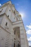 天使的大教堂的背后照明,克里姆林宫 库存图片